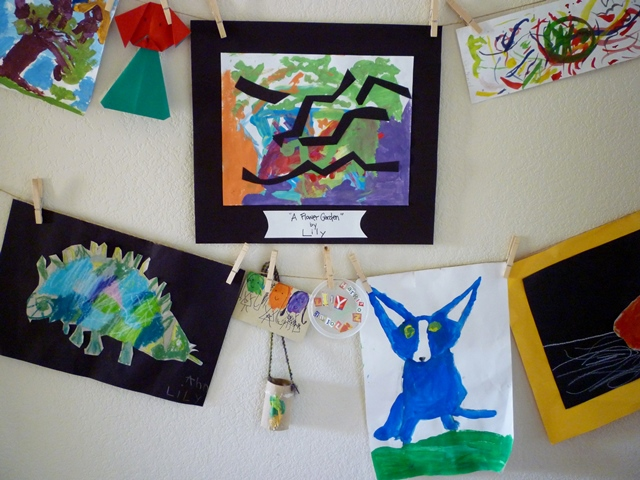 Kids' Art Display Wall crop web