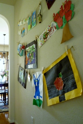 Kids' Art Display Wall web