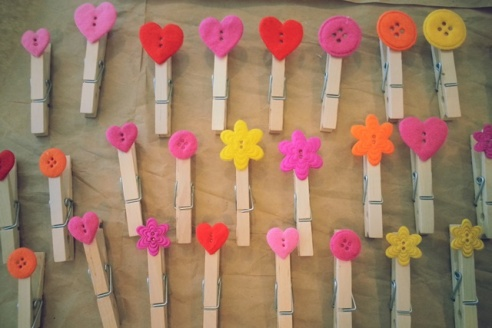 Cute Clothespins for Kids' Art Wall