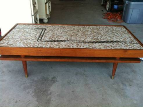 Midcentury Modern Mosaic Coffee Table