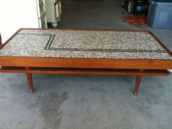 Midcentury Modern Mosaic Coffee Table