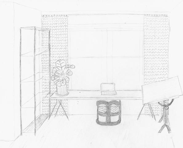 Office Nook Sketch
