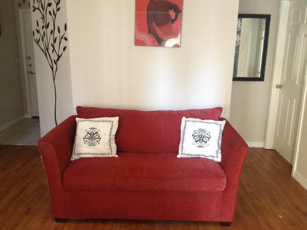 Red Fold-Out Couch
