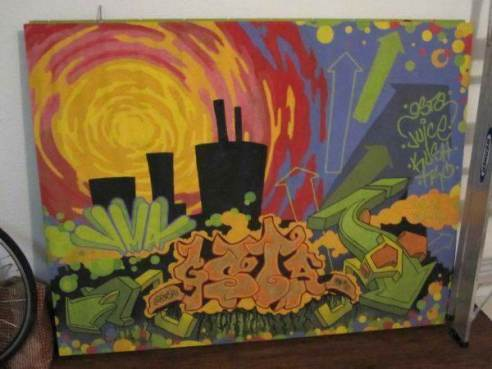 Street Art Cubicle Wall