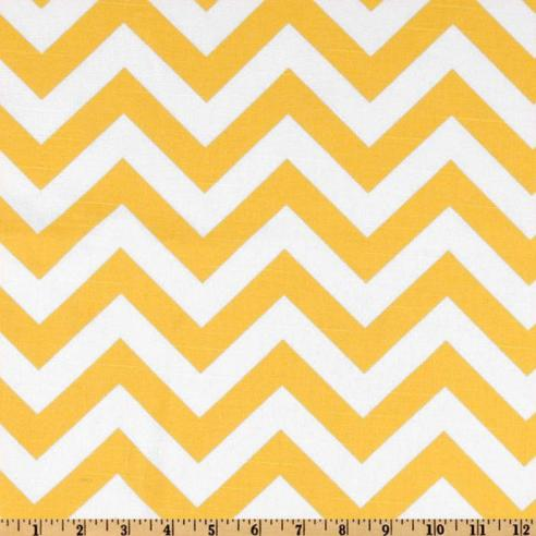 Yellow Chevron Fabric