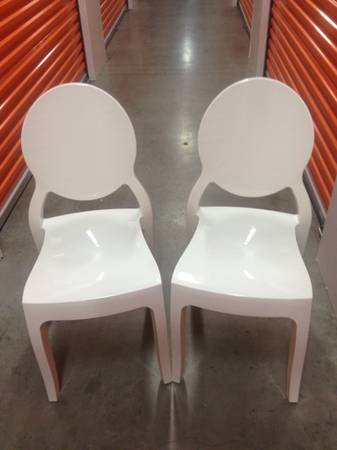 04-White Louis Chairs from Four Hands