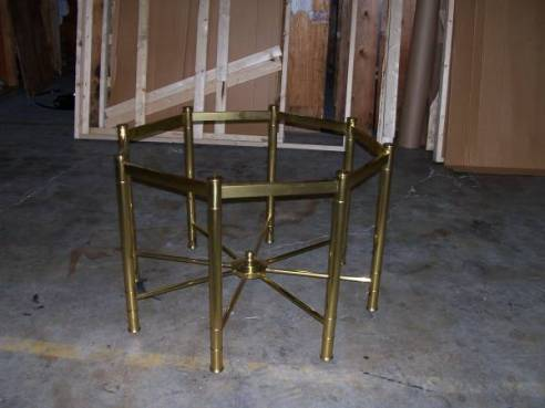 05-Brass & Glass Side Table