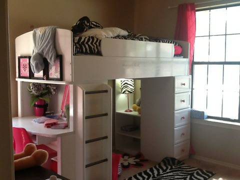 08 White Loft Bunk Bed