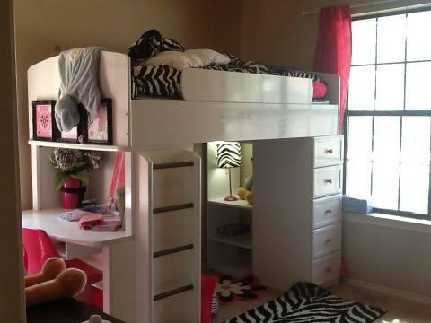 08 White Loft Bunk Bed