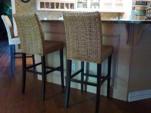 12-Seagrass Bar Stools