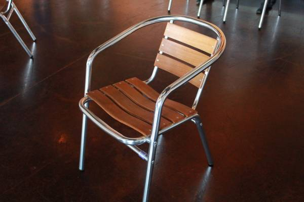 Aluminum and Wood Chairs