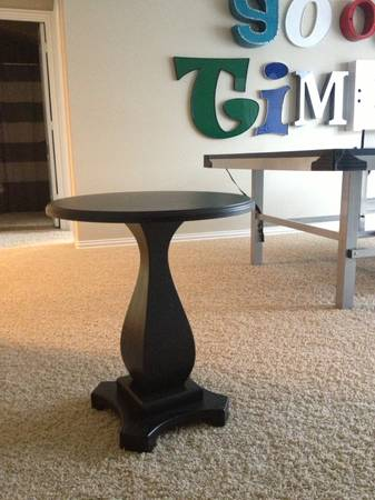 Black Pedestal Side Table