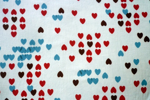 Heart Tetris Fabric