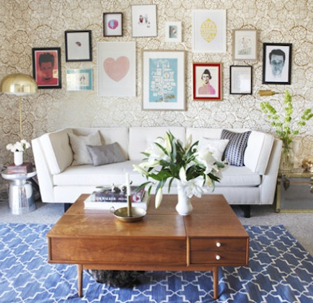 Emily Henderson designed this living room for blogger Joy Cho (from Oh Joy!)