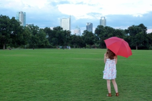 Red Umbrella in Zilker