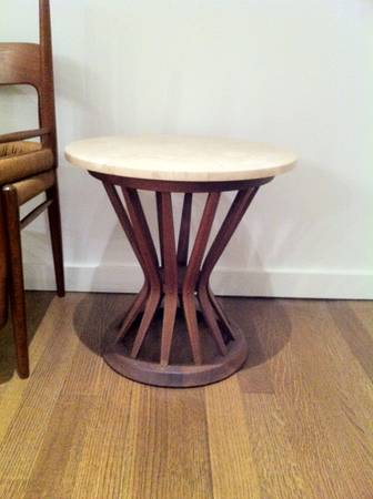 Walnut Sheaf of Wheat Side Table