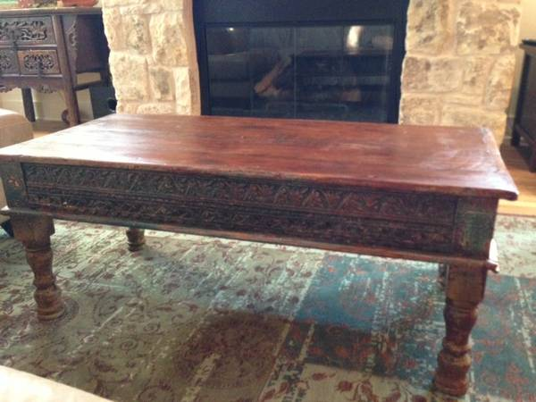 04 Carved Mexican Coffee Table