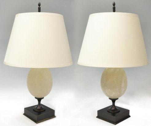 11 Pair of Restoration Hardware Empire Egg Lamps