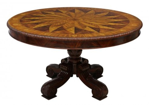 13 Maitland-Smith Marquetry Inlaid Center Table