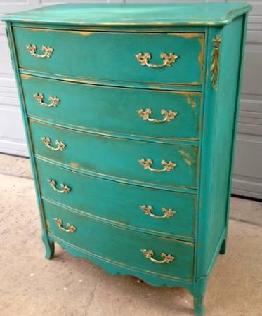 14 Custom Painted Dresser