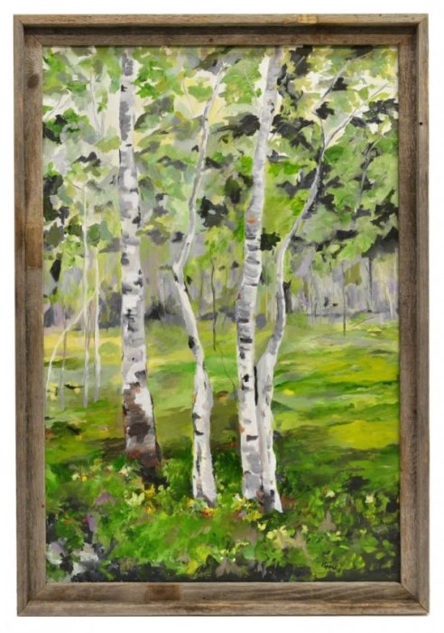 24 Summer Aspen Landscape Painting