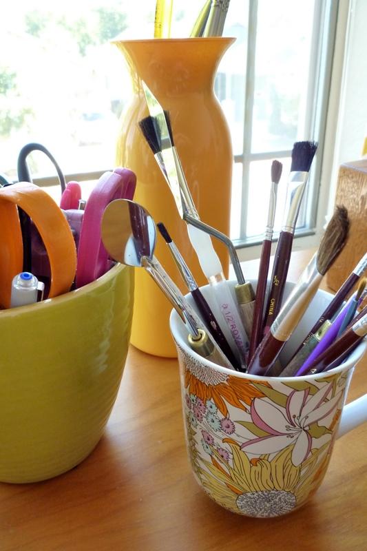 Liberty of London Mug and Paintbrushes