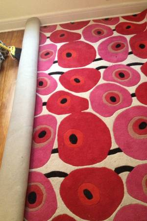 Modern Red and Pink Rug