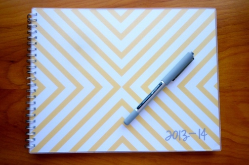 Yellow Chevron Planner