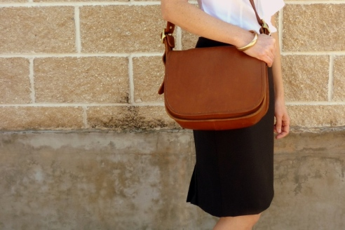Kick Pleat and Coach Bag