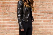 Black Moto Jacket and Jumpsuit crop