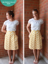 One Little Minute Box Pleats Skirt