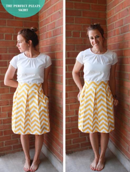 One Little Minute Box Pleats Skirt